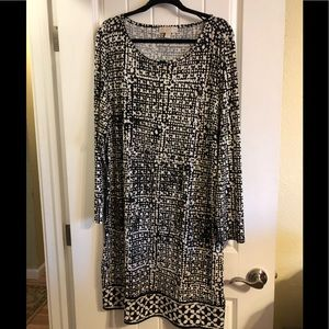 Micheal Kors Black and White Dress 2x